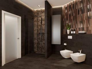"""Дизайн проект квартиры в ЖК """"Виноградный"""" Ванная комната в стиле минимализм от Lierne design Минимализм"""