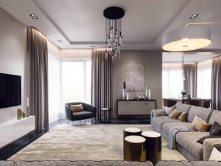 Интерьеры загородного дома Гостиная в стиле минимализм от Lierne design Минимализм
