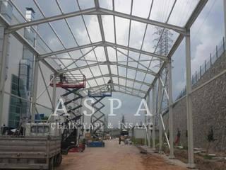 Çelik Konstrüksiyon Depo-Hangar Modern Garaj / Hangar ASPA ÇELİK YAPI İNŞAAT SAN. ve TİC. LTD. ŞTİ. Modern