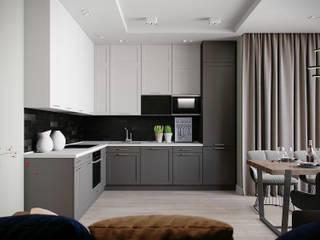 Квартира в ЖК Мосфильмовский Кухня в стиле минимализм от Lierne design Минимализм