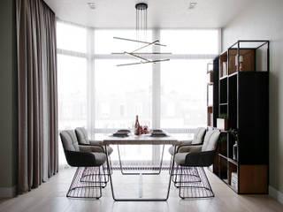 Квартира в ЖК Мосфильмовский Столовая комната в стиле минимализм от Lierne design Минимализм