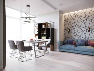 Квартира в ЖК Мосфильмовский Гостиная в стиле минимализм от Lierne design Минимализм