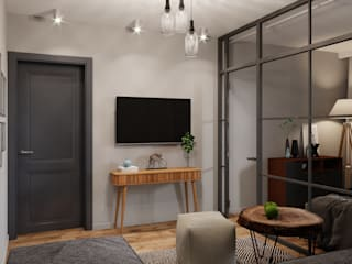 Квартира на ул. Дегунинская Гостиная в скандинавском стиле от Lierne design Скандинавский