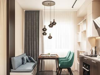 Квартира - студия для пары Кухня в стиле минимализм от Lierne design Минимализм