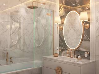 Дизайн интерьера для квартиры Ванная в колониальном стиле от iDesign студия дизайна интерьера Ирины Бобровской Колониальный