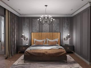 Дизайн интерьера для квартиры Спальня в колониальном стиле от iDesign студия дизайна интерьера Ирины Бобровской Колониальный