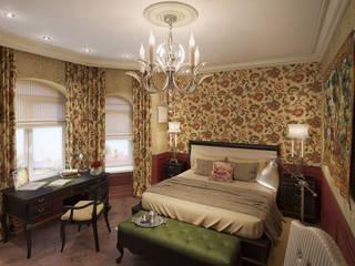 Дизайн интерьера для частного дома Спальня в колониальном стиле от iDesign студия дизайна интерьера Ирины Бобровской Колониальный