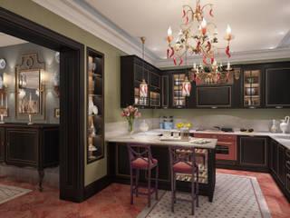 Дизайн интерьера для частного дома Кухня в колониальном стиле от iDesign студия дизайна интерьера Ирины Бобровской Колониальный