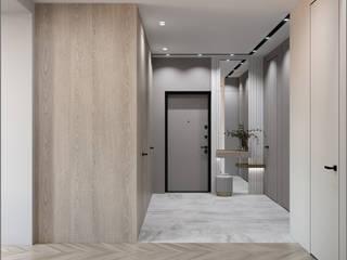 Монохромные линии Коридор, прихожая и лестница в стиле минимализм от ANNA GANUS Минимализм