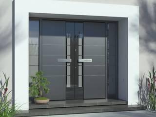 1001-Tuer.de Front doors Aluminium/Zinc Grey