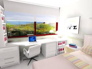 DORMITORIOS JUVENILES PARA GRANDES CHICOS Ismael Blázquez | MTDI ARQUITECTURA E INTERIORISMO Dormitorios de estilo ecléctico Madera Blanco