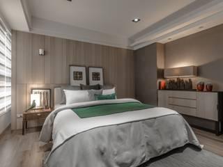 時尚系列 KRONOTEX德國高能得思地板 臥室床與床頭櫃 複合木地板 Brown