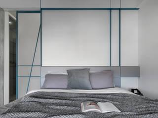 知域設計 Modern style bedroom Grey