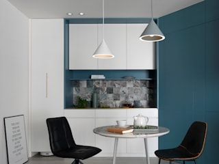 知域設計 Modern living room Blue