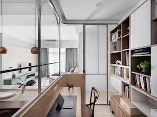 Eclectic style study/office by 知域設計 Eclectic