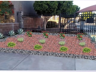 Diseño y construccion de jardines. Agenda Verde Jardines en la fachada Caliza Rojo