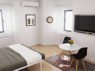 Rendering Interni Fotorealistici Soggiorno moderno di Agenzia Rendering 3D - W & E srl Moderno