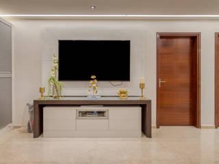 KLP Abhinandan apartments, Chennai HomeLane.com Modern media room
