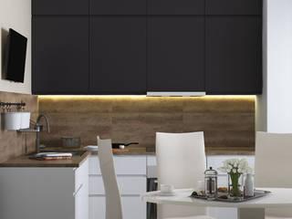 Дизайн квартиры в современном стиле (Только Кухня) Кухня в стиле минимализм от Дизайн интерьера Астана Biar Минимализм