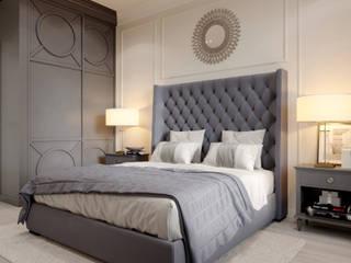 Дизайн квартиры в Астане (Нур-Султан) - в стиле неоклассика Спальня в классическом стиле от Дизайн интерьера Астана Biar Классический