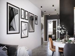 Mieszkanie na Podgórzu inPOINT Architektura Wnętrz Nowoczesny korytarz, przedpokój i schody