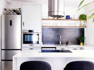 REFORMAS LUJAN Dapur Gaya Skandinavia Kayu Black