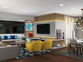 PROJETO ONLINE Salas de estar modernas por Marcela Rocca Arquitetura & Interiores Moderno