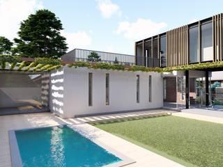 VIVIENDA VPR - LA REINA Jardines de estilo moderno de Olguin Arquitectos Moderno