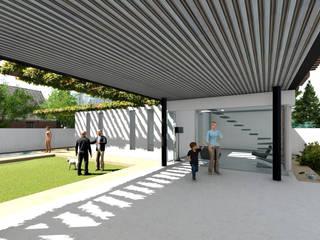 VIVIENDA VPR - LA REINA Garajes de estilo moderno de Olguin Arquitectos Moderno