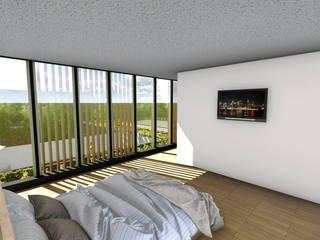 VIVIENDA VPR - LA REINA Dormitorios de estilo moderno de Olguin Arquitectos Moderno