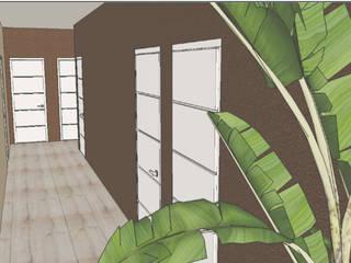 Representações 3D | Realidade Virtual Spa tropical por ABITAH Garden and Interior Design Tropical