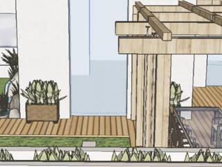 Representações 3D | Realidade Virtual Jardins modernos por ABITAH Garden and Interior Design Moderno