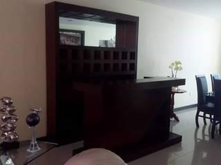Eika Design Ruang Penyimpanan Wine/Anggur Modern Kayu Wood effect