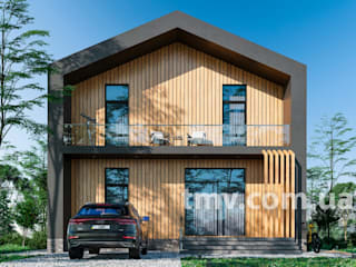 Индивидуальный проект дома в стиле хай-тек 300 м2 от TMV Architecture company