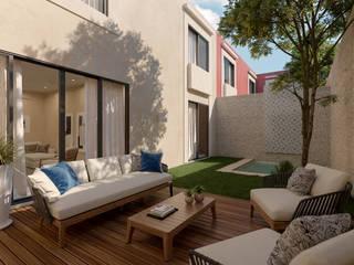 Casas AA Balcones y terrazas modernos de Álvarez Bernés Arquitectura Moderno