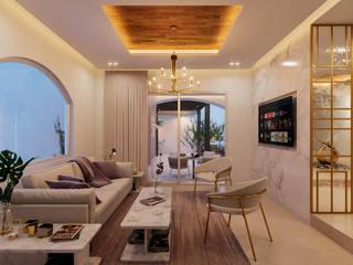 Casa CZ Salones modernos de Álvarez Bernés Arquitectura Moderno