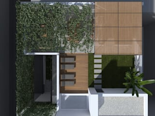 Modern style balcony, porch & terrace by ALESSIO LO BELLO ARCHITETTO a Palermo Modern