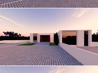 Moradia Unifamiliar em Vila Verde por MEIKSTUDIO architecture-interior-design Minimalista