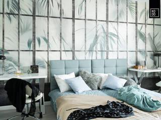 Dormitorios de estilo moderno de KODO projekty i realizacje wnętrz Moderno