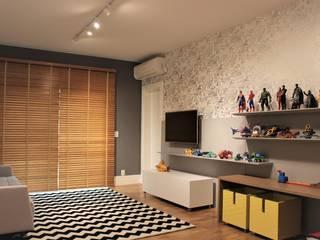 Geraldo Brognoli Ludwich Arquitetura Boys Bedroom MDF Grey