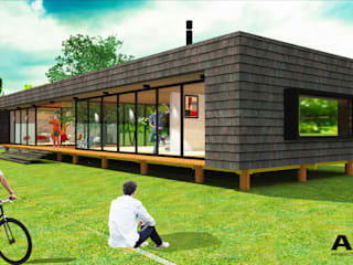 AOG Prefabricated home Engineered Wood Wood effect