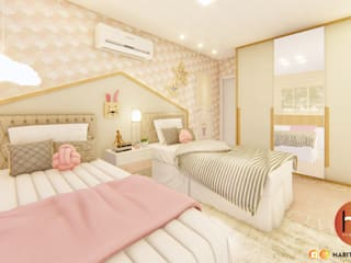 Habitus Arquitetura Girls Bedroom MDF Pink