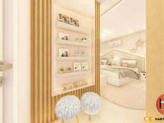 Habitus Arquitetura غرفة نوم بنات MDF Pink