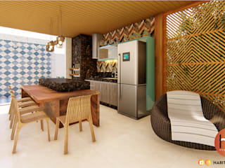 Habitus Arquitetura Modern terrace Wood Wood effect