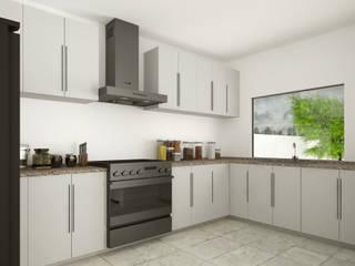 Residencia Tequesquitengo Lynder Constructora e Inmobiliaria Cocinas equipadas Derivados de madera Blanco
