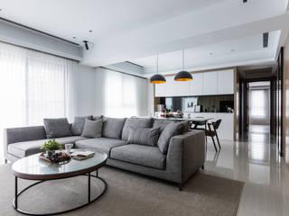 新北W宅-Part 2 大企國際空間設計有限公司 现代客厅設計點子、靈感 & 圖片
