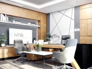 CÔNG TRÌNH VĂN PHÒNG NTIS: hiện đại  by CÔNG TY TNHH NỘI THẤT CNC, Hiện đại