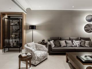 桃園C宅 大企國際空間設計有限公司 现代客厅設計點子、靈感 & 圖片