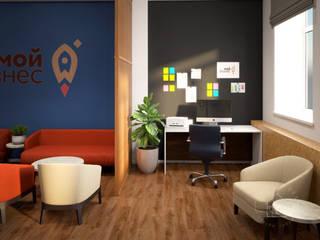 Всероссийский центр для поддержки предпринимателей «Мой бизнес». Реализован! Конференц-центры в стиле лофт от Anikina_des_studio Лофт