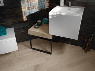 Parquet e Top lavabo in Quercia Contorta sabbiata finitura Pietra di Cadorin Group Srl - Top Quality Wood Flooring Moderno
